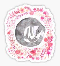 Little Luna Fox - Grey Sticker