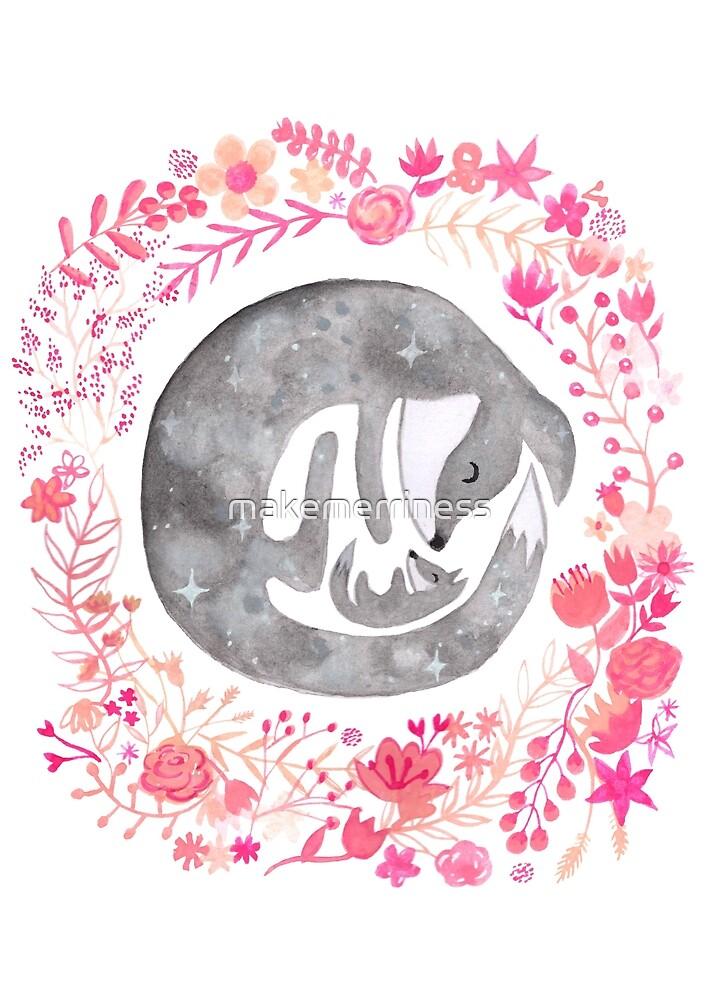 Little Luna Fox (Grey) - By Merrin Dorothy by makemerriness