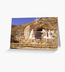 where jesus lay... Greeting Card