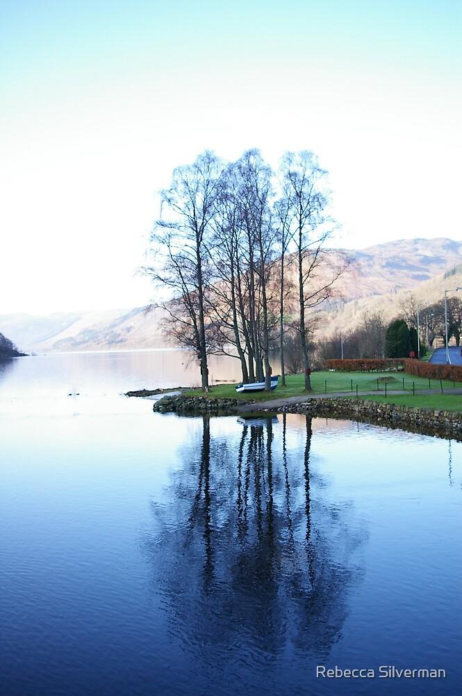 Reflection on a Loch, Scotland by Rebecca Silverman