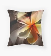 Frangipani Paint Throw Pillow