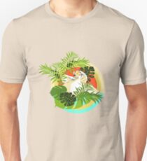Tropical Sloth in Pineapple Sunglasses Unisex T-Shirt