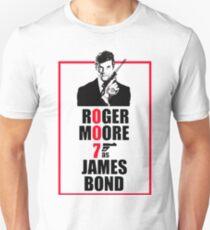 Roger Moore James Bond 007 Unisex T-Shirt