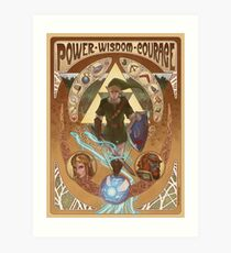 Art Nouveau Legend of Zelda Art Print