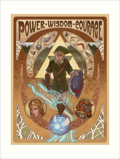 Art Nouveau Legend of Zelda by zfischerart