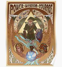 Art Nouveau Legend of Zelda Poster