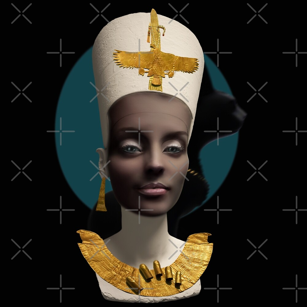 NEFERTITI surreal girl portrait Pharaoh Queen of the Nile by vic4U
