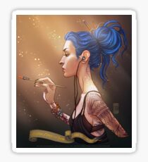 Karou Painting in Light Sticker