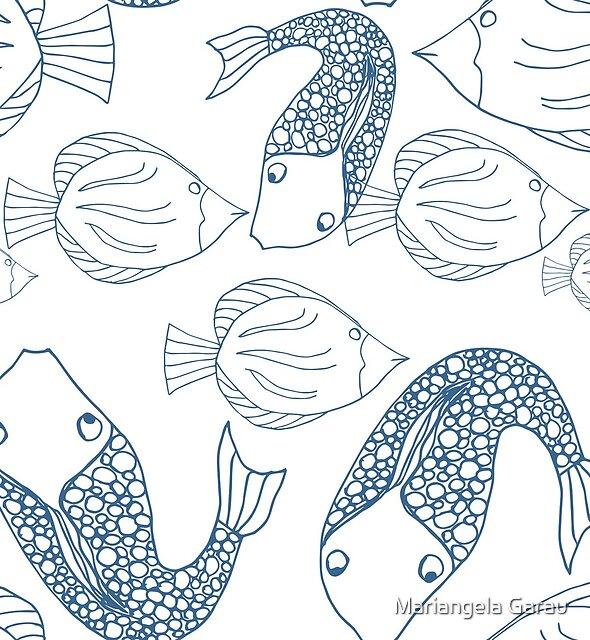 Blue Fish by Mariangela Garau