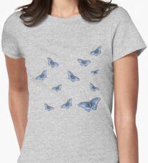 Blue Butterflies Women's Fitted T-Shirt