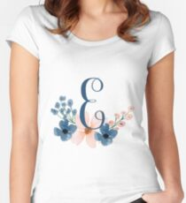 Monogram E Women's Fitted Scoop T-Shirt