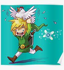 Cucco Run! - Legend of Zelda Poster