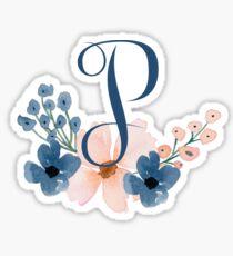 Monogram P Sticker
