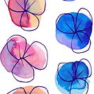 Simple Ombre Watercolor Flowers by SaradaBoru