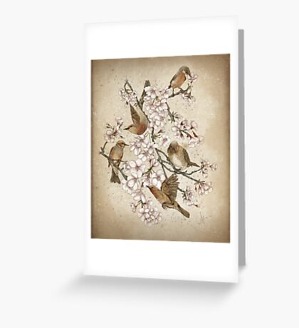 Too many birds Greeting Card