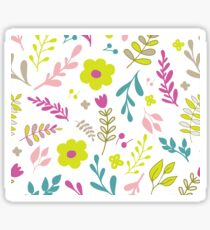 Colorfull flowers on white Sticker