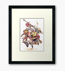 Quina & Friends Framed Print