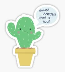 Kaktus-Umarmungs-Aufkleber Sticker