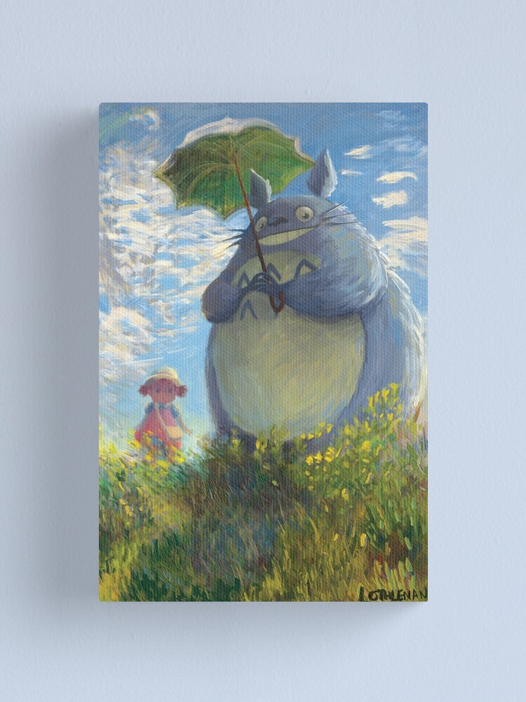 Alternate view of With a Parasol Canvas Print