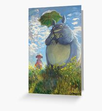 With a Parasol Greeting Card