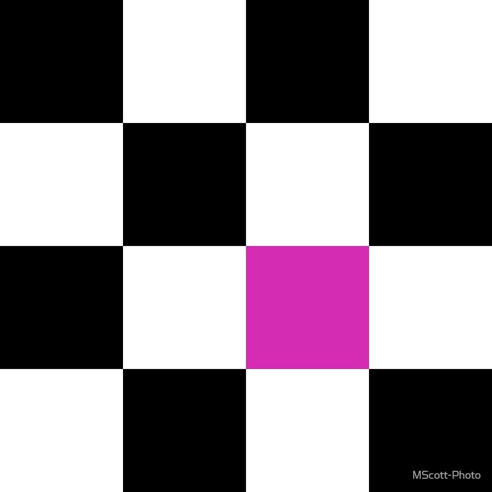 Hot Pink Checkerboard by MScott-Photo