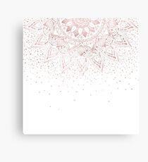 Elegant rose gold mandala confetti design Canvas Print