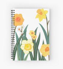 Frühlingsblumen Spiralblock