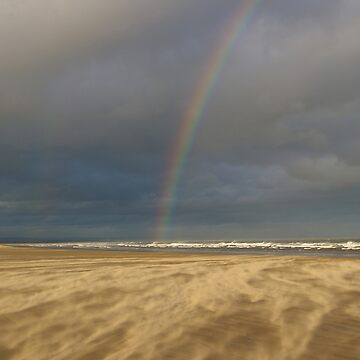 Rainbow in a Sandstorm, St Andrews Beach, Scotland by becca305