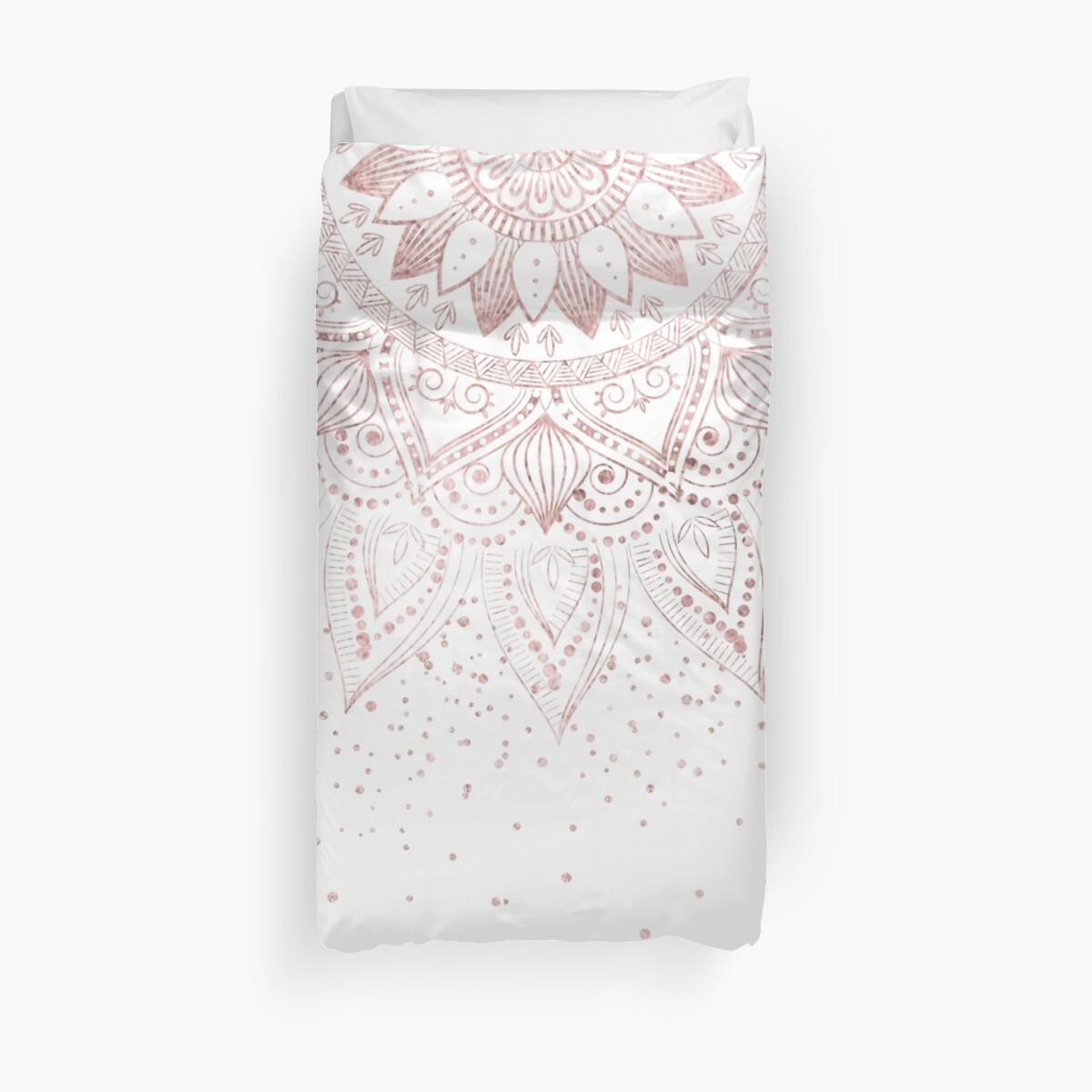 Eleganter Rosengoldmandala-Konfettientwurf von InovArtS