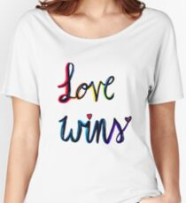 Love Wins Women's Relaxed Fit T-Shirt