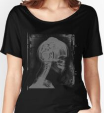 DJ Xray Skeleton Spin Master Headphones Women's Relaxed Fit T-Shirt