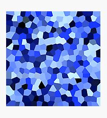 Geometric Blues Photographic Print