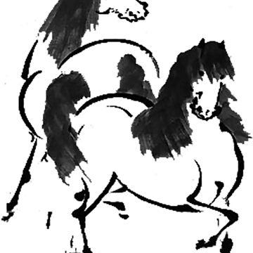 Vintage Horse Buddies  by noelleinaboot