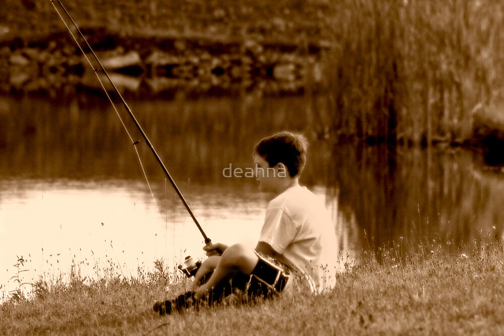 A boy fishing by deahna