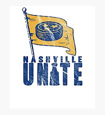 Nashville Hockey Fans UNITE! Photographic Print