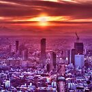 Sunset over Tokyo by Guillaume Marcotte
