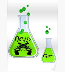 Acid in Clonical Flask - White Version Poster