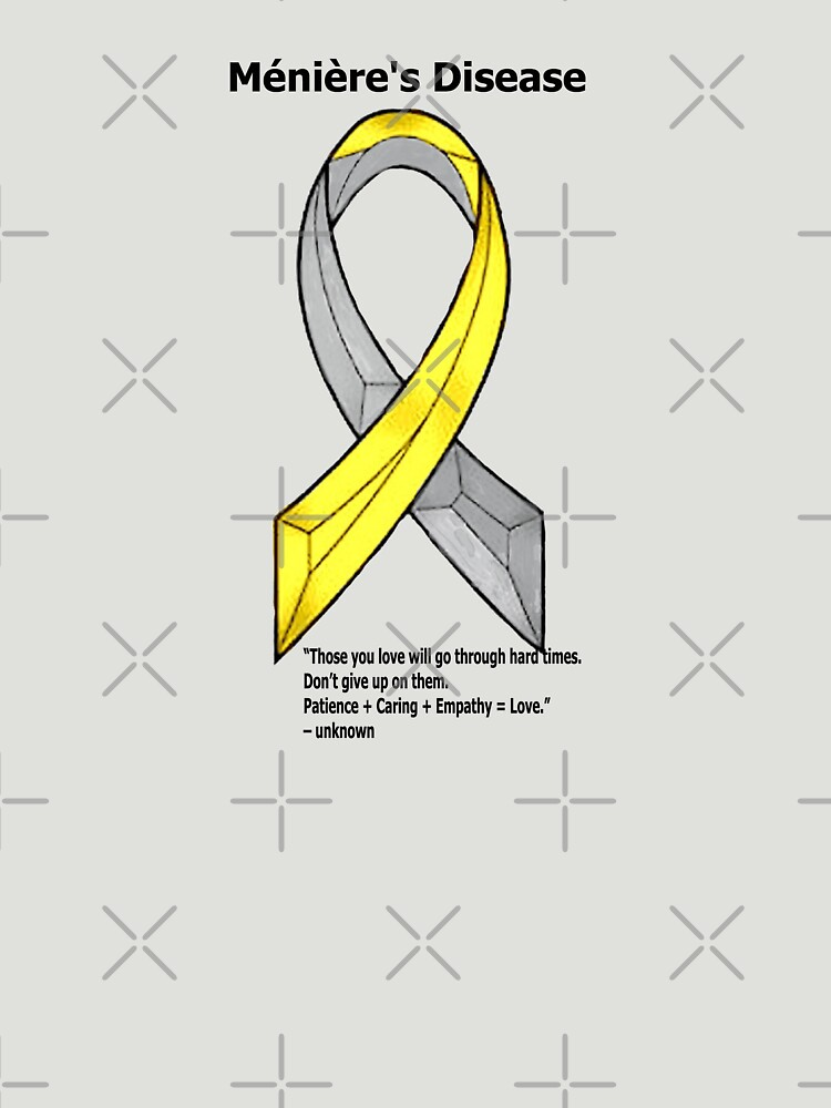 Ménière's Disease Ribbon and Quote by ChadKroll