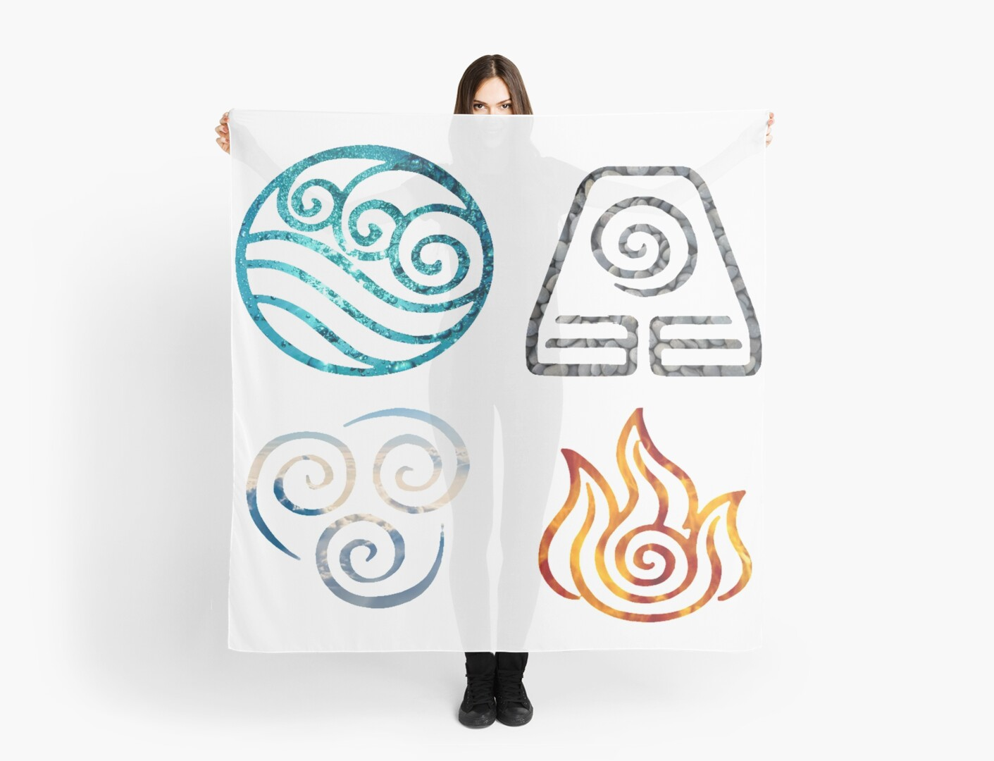 Avatar the last airbender element symbols scarves by losthermarbles avatar the last airbender element symbols by losthermarbles biocorpaavc Image collections