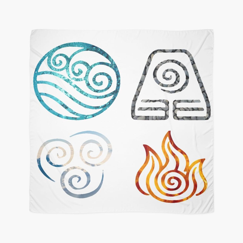 Avatar the last airbender element symbols scarves by losthermarbles avatar the last airbender element symbols biocorpaavc Image collections