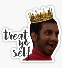 treat yo self tom haverford Sticker