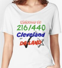 Welcome to Cleveland 216/440 aka Da-Land Women's Relaxed Fit T-Shirt