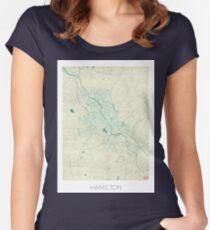 Hamilton Blue Vintage Women's Fitted Scoop T-Shirt