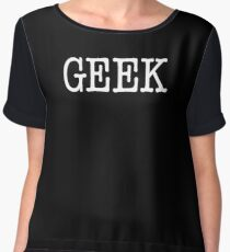 GEEK (black/white) Chiffon Top
