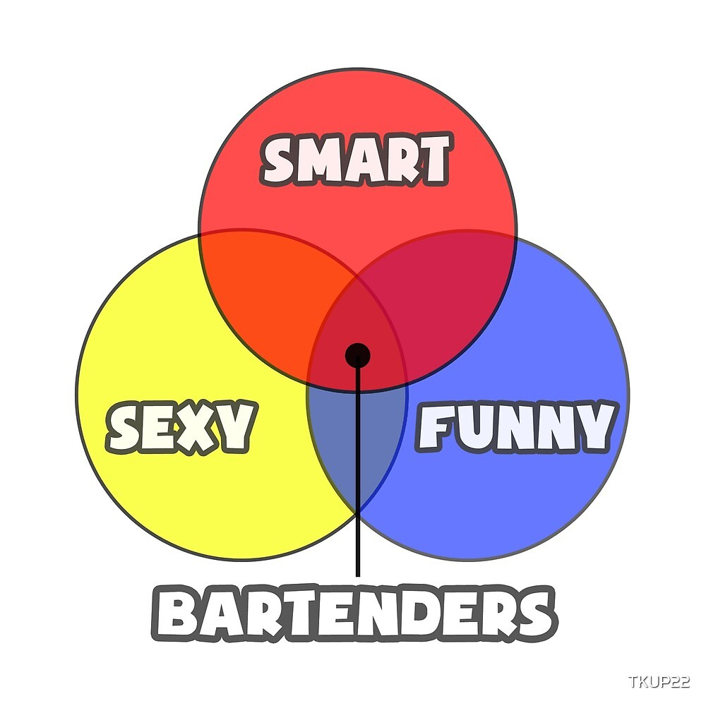 Venn Diagram ... Bartender Humor by TKUP22