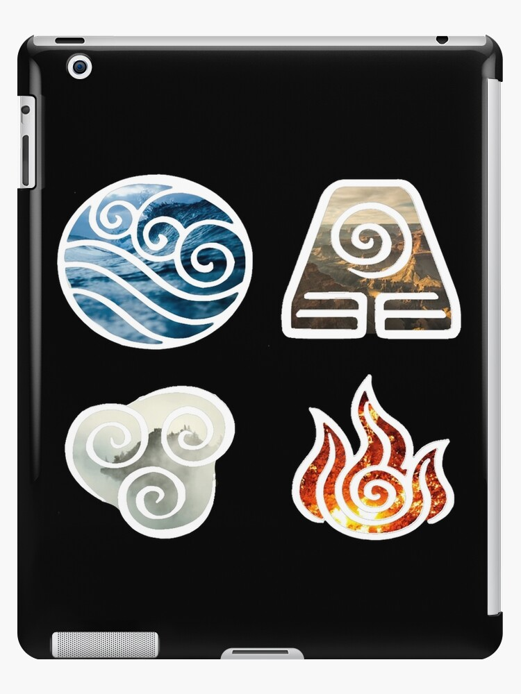 Avatar The Last Airbender Element Symbols Ipad Cases Skins By