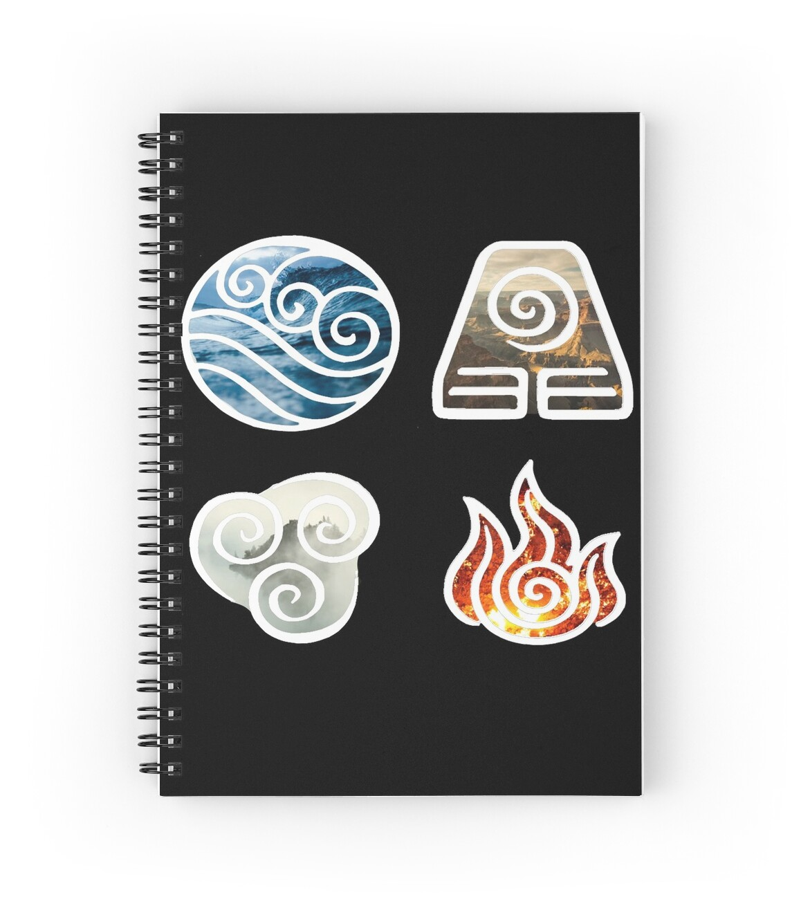 Avatar the last airbender element symbols spiral notebooks by avatar the last airbender element symbols by losthermarbles biocorpaavc Image collections