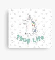 Thug Life Unicorn Canvas Print