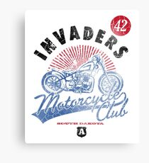 Retro South Dakota, Motorcycle Club, Canvas Print