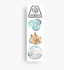 Lienzo Avatar the Last Airbender Element Symbols
